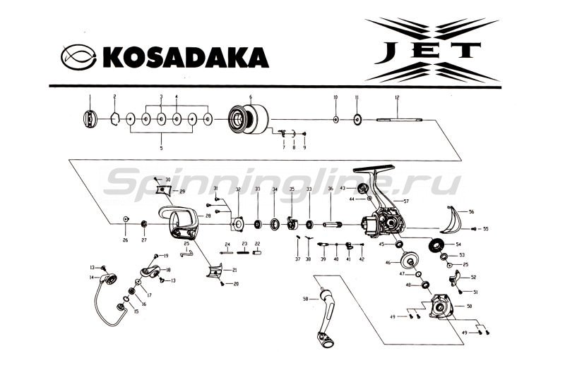 Kosadaka - Катушка Jet 2000 - фотография 7