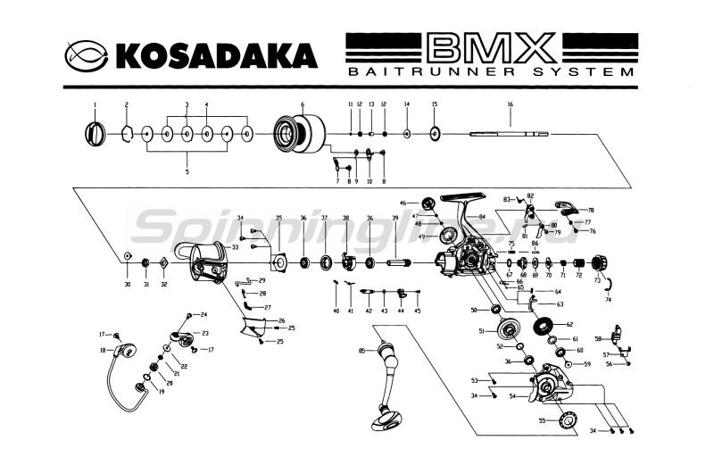 Kosadaka - Катушка BMX 4000 - фотография 7