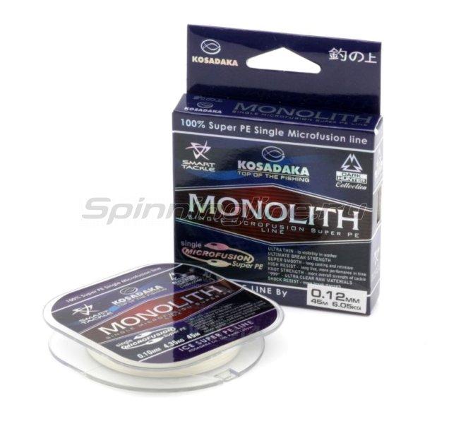 Kosadaka - Шнур Monolith 45м 0,12мм clear - фотография 1