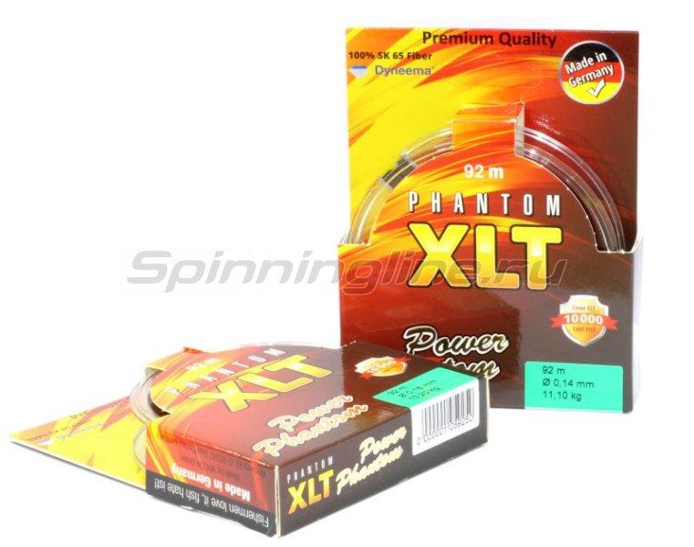 Шнур Power Phantom XLT 4x 120м 0.30мм green - фотография 2