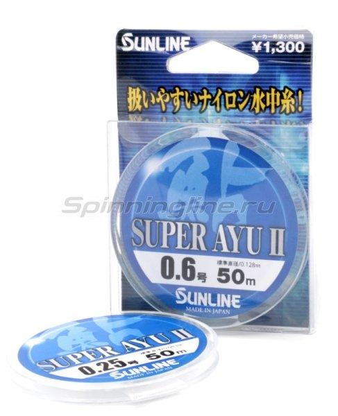 Sunline - Леска Super Ayu 50м 0,128мм - фотография 1