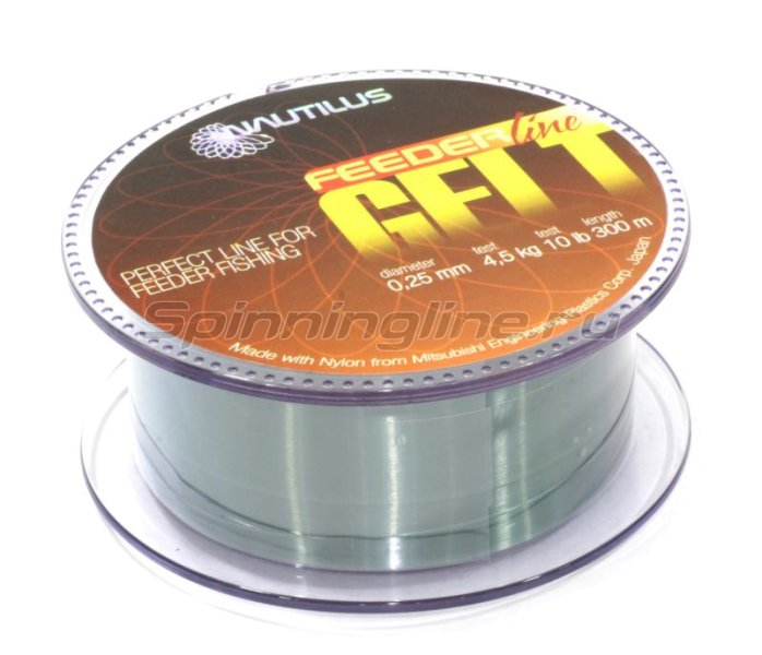 Nautilus - Леска Gelt Feeder 300м 0,25мм - фотография 1
