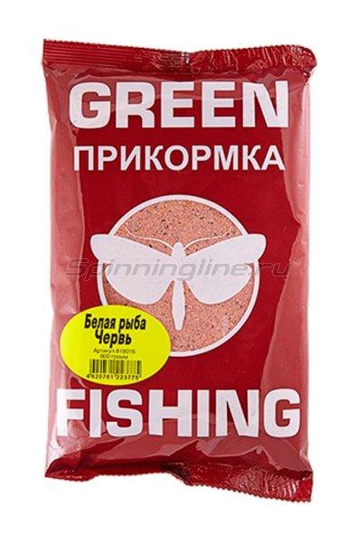 Прикормка Greenfishing Белая рыба Червь 800 гр. - фотография 1
