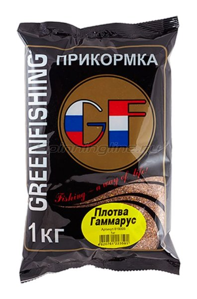 Прикормка GF Плотва Гаммарус 1кг. -  1