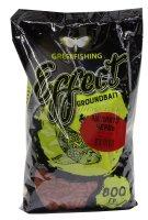 Пеллетс прикормочный Greenfishing Червь 800гр.