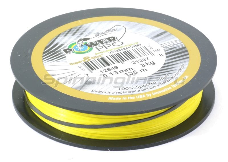 Шнур Super8Slick 135м 0.15мм yellow -  2