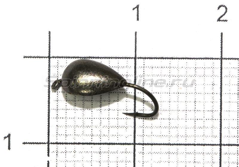 Lumicom - Мормышка Блошка с ушком d4 черный никель - фотография 1