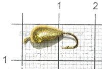 Мормышка LumiCom Блошка с ушком d5 золото