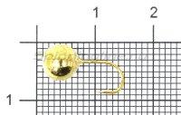Мормышка LumiCom Дробинка с отверстием d6 золото