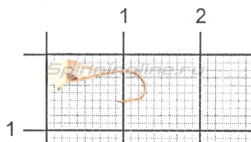 Lumicom - Мормышка Капля граненая с ушком d3 медь с фосфорной каплей - фотография 1
