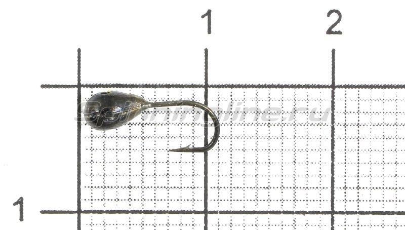 Lumicom - Мормышка Капля с отверстием d3 черный никель - фотография 1