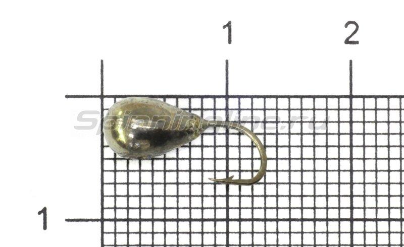 Lumicom - Мормышка Капля с отверстием d5 черный никель - фотография 1