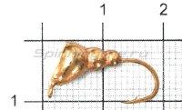 Мормышка Муравей с ушком d6 медь с фосфорной каплей