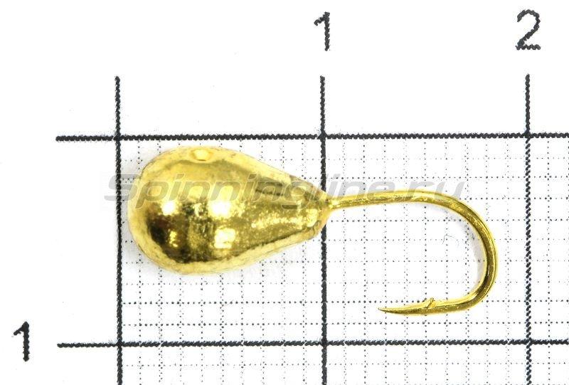 Lumicom - Мормышка Капля с отверстием d6 золото - фотография 1