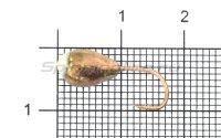 Мормышка LumiCom Капля с отверстием d6 медь с фосфорной каплей