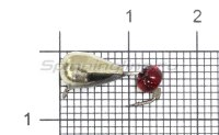 Мормышка Безмотылка №1 капля с ушком d5 никель