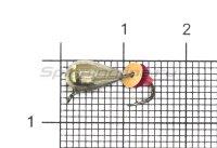 Мормышка LumiCom Безмотылка №2 капля с ушком d5 никель