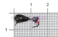 Мормышка LumiCom Безмотылка №3 капля с ушком d5 черный никель