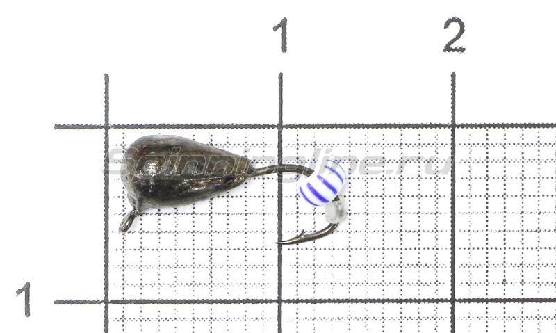 Lumicom - Мормышка Безмотылка №4 капля с ушком d4 черный никель - фотография 1