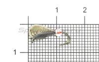 Мормышка LumiCom Безмотылка №4 капля с ушком d5 никель