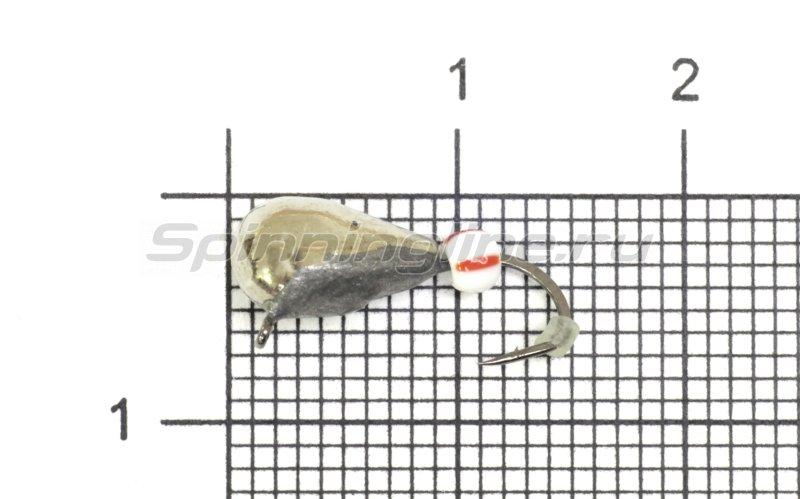 Lumicom - Мормышка Безмотылка №4 капля с ушком d5 никель - фотография 1