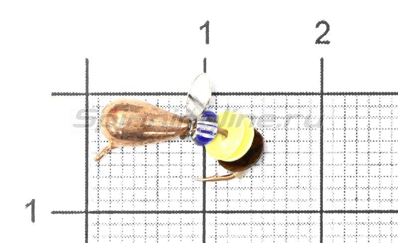 Lumicom - Мормышка Безмотылка №6 капля с ушком d4 медь - фотография 1