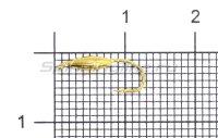 Мормышка Овсинка с ушком d3 золото