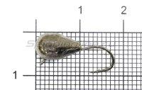 Мормышка Капля с ушком d6 черный никель