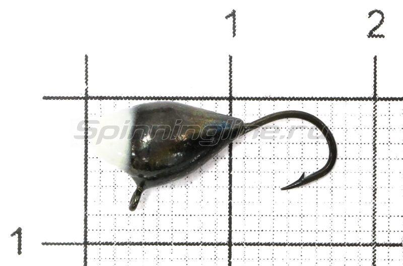 Lumicom - Мормышка Капля с ушком d5 черный никель с фосфорной каплей - фотография 1