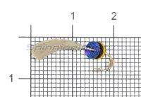 Мормышка Безмотылка №2 уралка d5 серебро