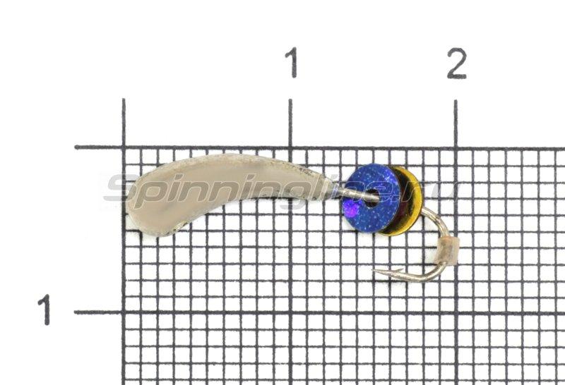 Мормышка LumiCom Безмотылка №2 уралка d5 серебро -  1