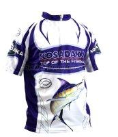 Футболка Kosadaka Sunblock XXL с коротким рукавом бело-синяя