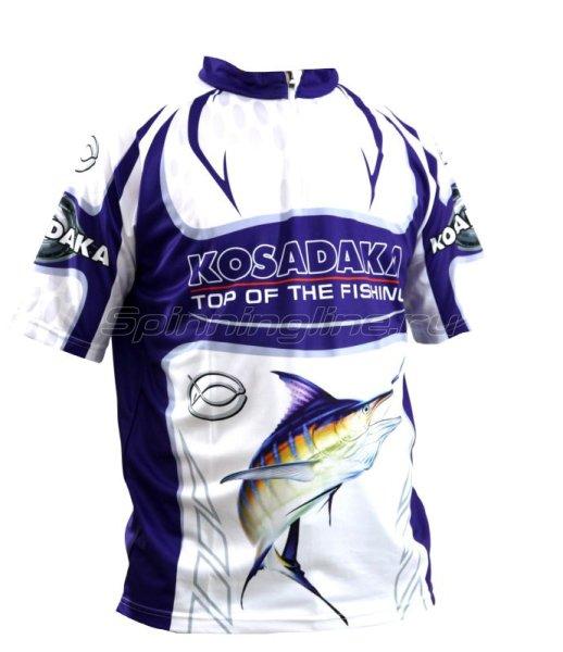 Футболка Kosadaka Sunblock XXL с коротким рукавом бело-синяя -  1