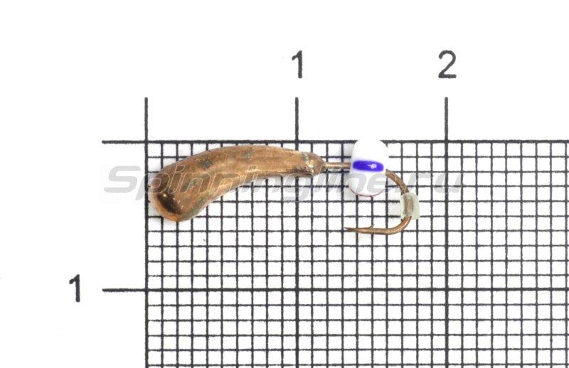 Lumicom - Мормышка Безмотылка №4 уралка d5 медь - фотография 1