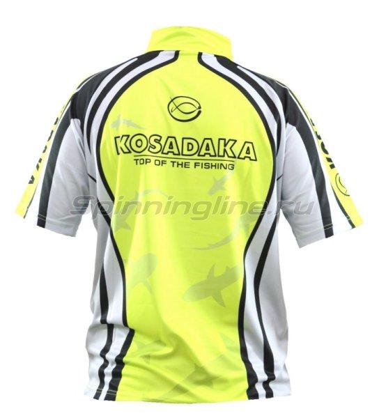 Футболка Kosadaka Sunblock M с коротким рукавом серо-зеленая -  2