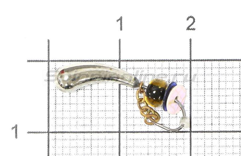 Lumicom - Мормышка Безмотылка №5 уралка d5 никель - фотография 1