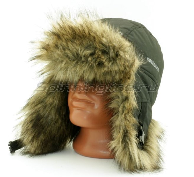 Шапка-ушанка Kosadaka Arctic волк, черный XL -  1