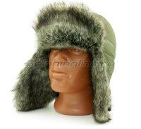 Шапка-ушанка Kosadaka Arctic шиншилла, хаки XL