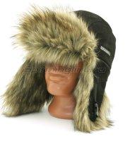 Шапка-ушанка Kosadaka Extreme волк, черный XL