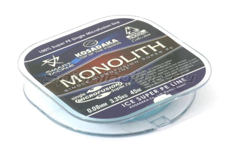 Шнур Monolith 45м 0,08мм blue -  2