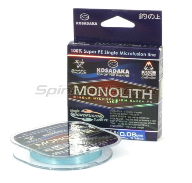 Шнур Monolith 45м 0,10мм blue -  1