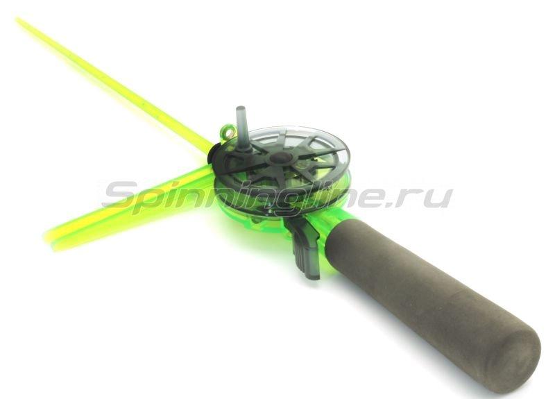 Пирс Мастер - Удочка зимняя WH 56N L220 зеленый/серый - фотография 1