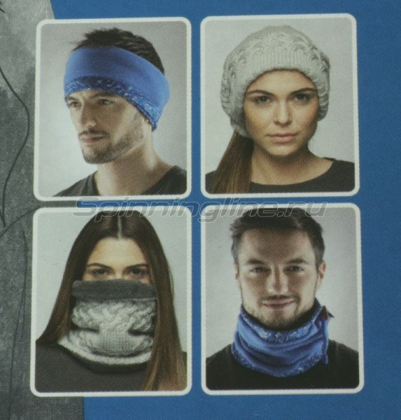 Шарф-маска Buff Angler Neckwarmer camu/military - фотография 3