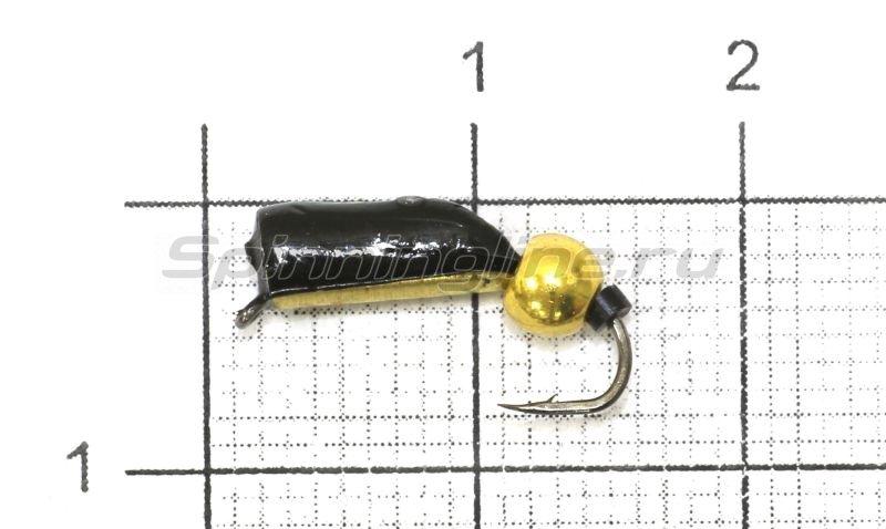Мормышка Санхар Столбик №8 d3 латунный шар, латунь -  1