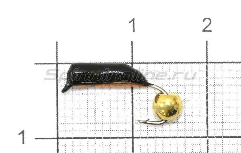 Санхар - Мормышка Столбик №7 d2.5 латунный шар, медь - фотография 1