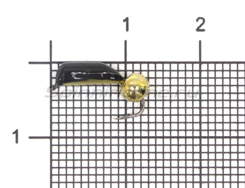 Мормышка Санхар Столбик №6 d2.5 латунный шар, латунь -  1