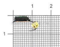 Мормышка Столбик №6 d2.5 латунный шар, медь