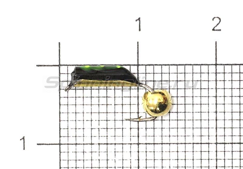 Мормышка Столбик №4 d2 латунный шар, латунь -  1