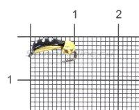 Мормышка Столбик №3 d2 латунный шар, латунь