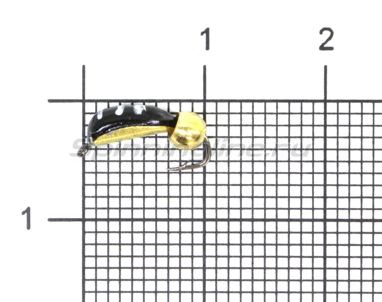 Мормышка Столбик №3 d2 латунный шар, латунь -  1